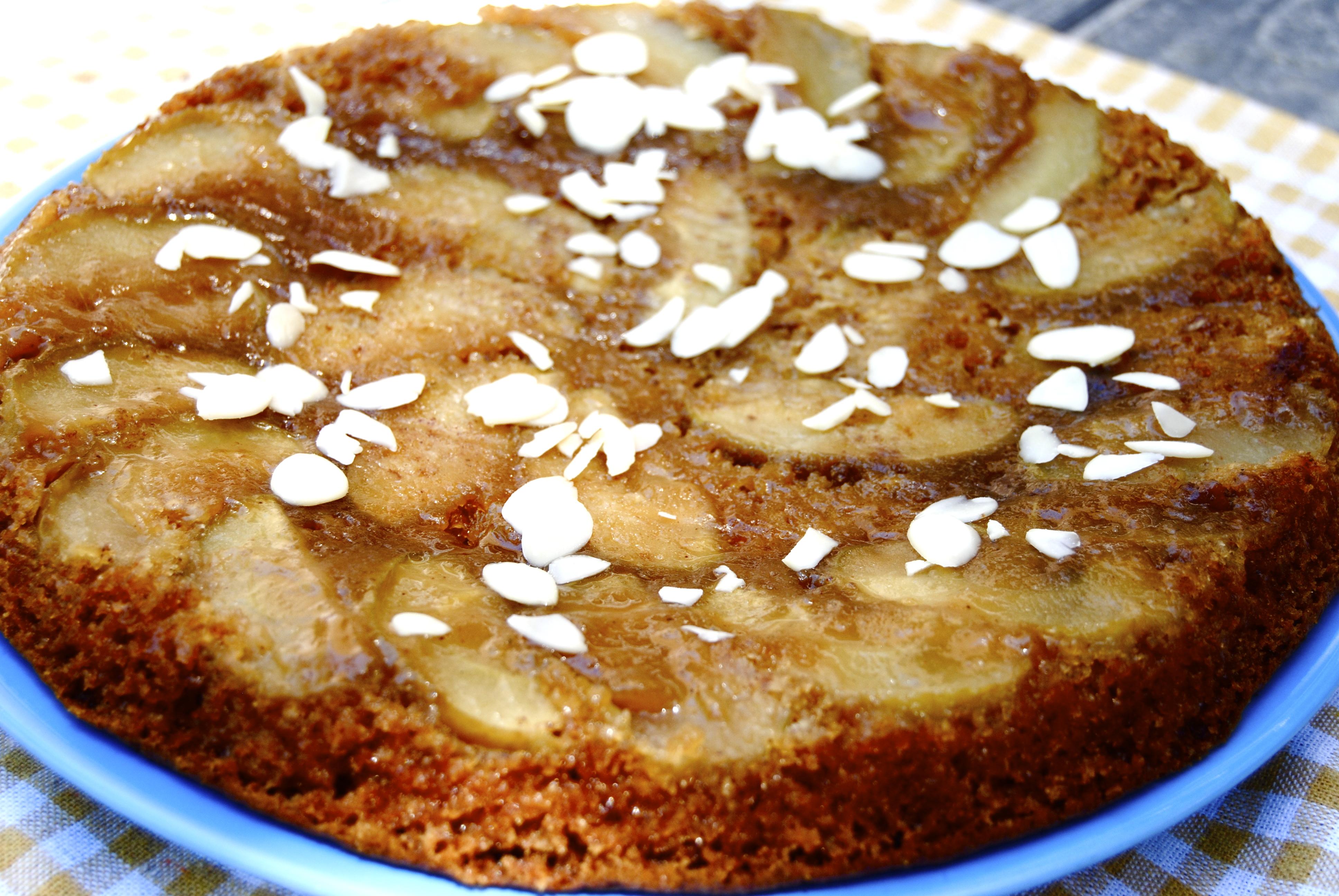 Upside Down Apple Honey Cake