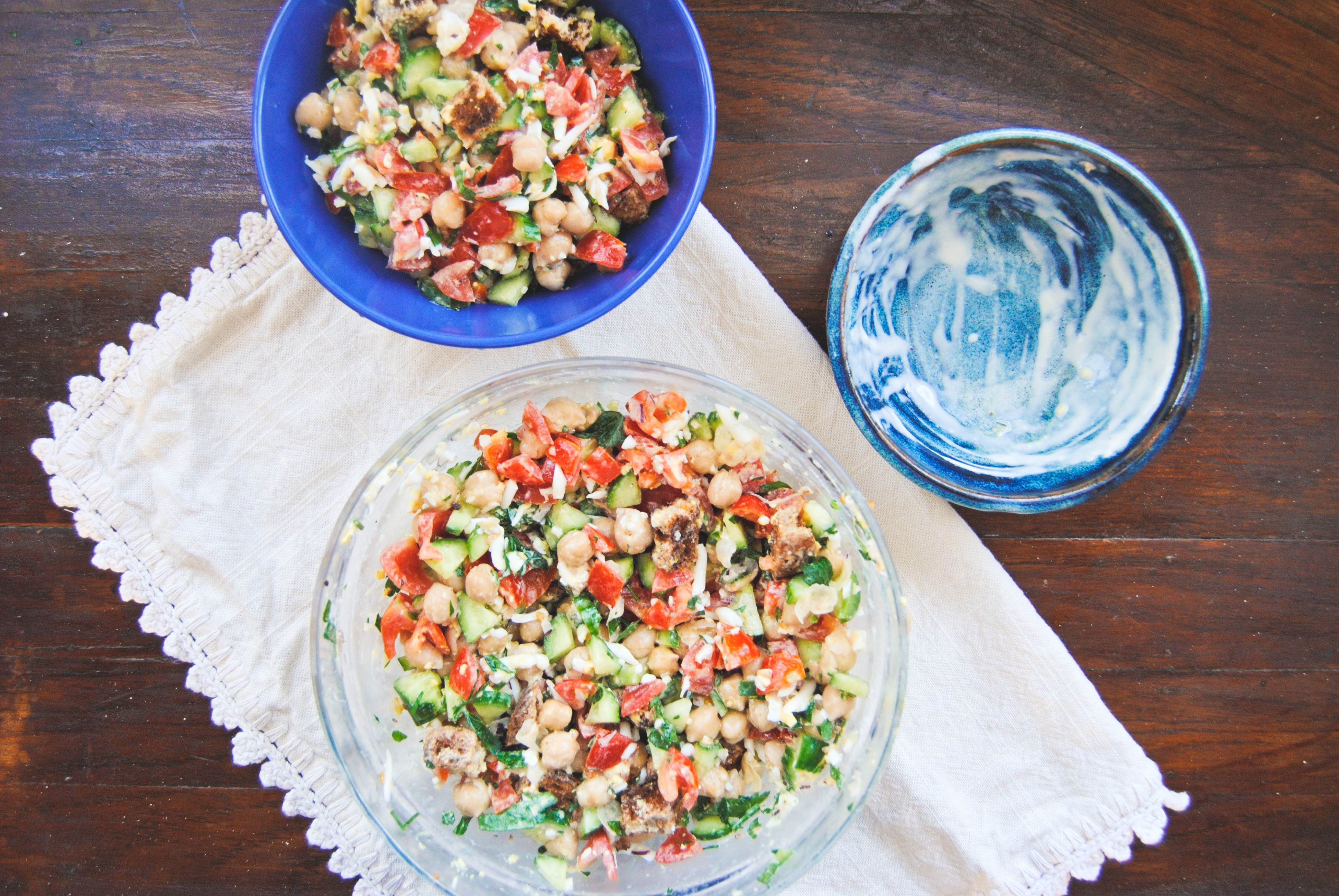 easy warm chickpea salad