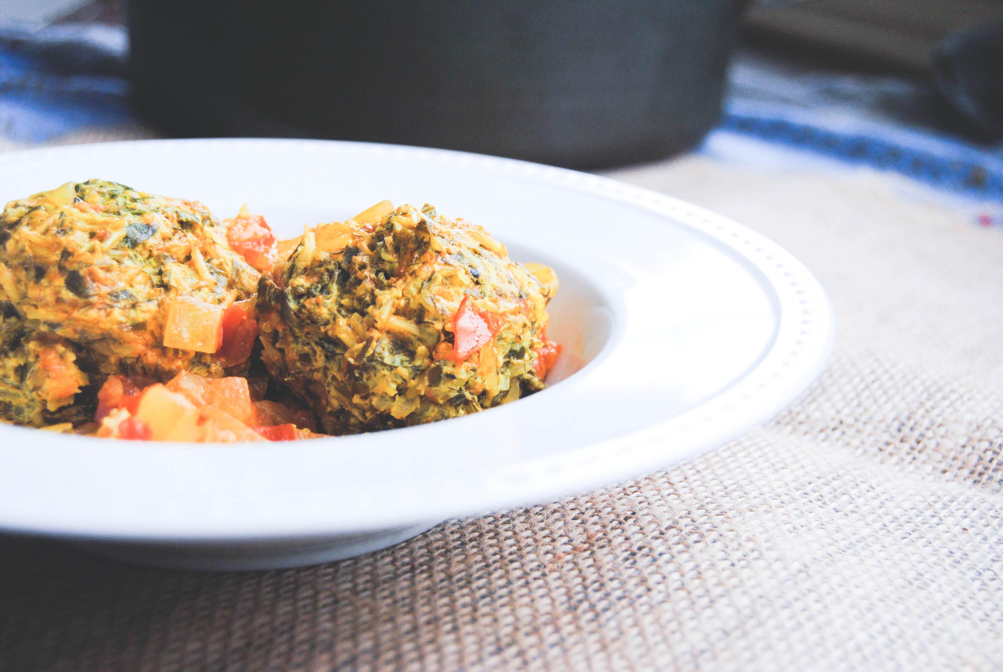 Gondi – گندی – Herbed Turkey Meatballs in a Dried Lemon ...